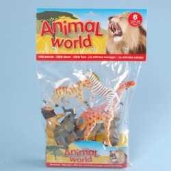 Wilde dieren van plastic 6 stuks