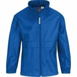 Windjas/regenjas meisjes kobaltblauw