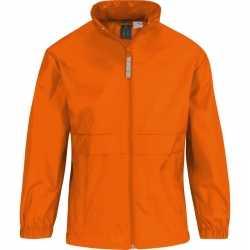 Windjas/regenjas meisjes oranje