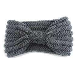 Winter gebreide haarband grijs strik dames