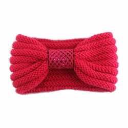 Winter gebreide haarband rood strik dames