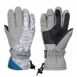 Winter handschoenen starling mirre grijs/wit kinderen