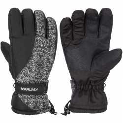 Winter handschoenen starling mirre zwart/wit kinderen
