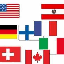 Wintersport vlaggen pakket