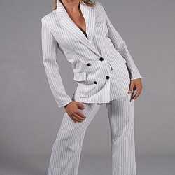 Wit dames gangster kostuum