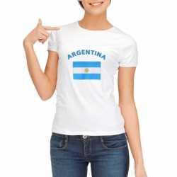 Wit dames t-shirt Argentinie