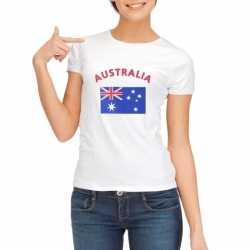 Wit dames t-shirt Australie