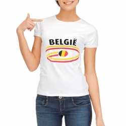 Wit dames t-shirt Belgie