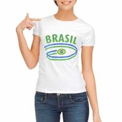 Wit dames t-shirt Brazilie