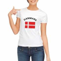 Wit dames t-shirt Denemarken