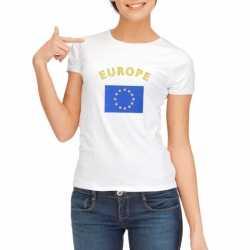 Wit dames t-shirt Europa