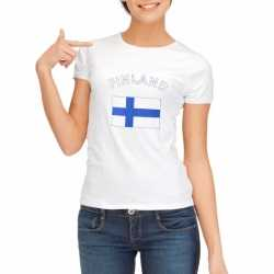 Wit dames t-shirt Finland