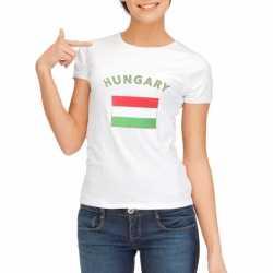 Wit dames t-shirt Hongarije