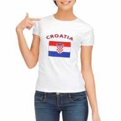 Wit dames t-shirt Kroatie