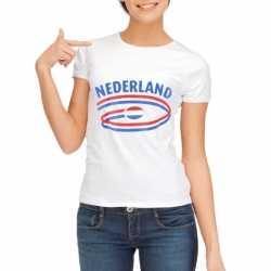 Wit dames t-shirt Nederland