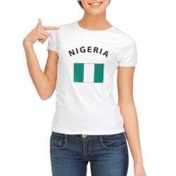 Wit dames t-shirt Nigeria