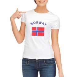 Wit dames t-shirt Noorwegen