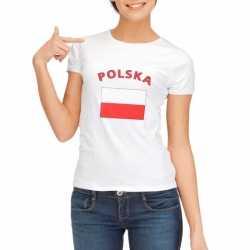 Wit dames t-shirt Polen