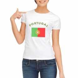 Wit dames t-shirt Portugal