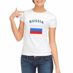 Wit dames t-shirt Rusland