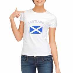 Wit dames t-shirt Schotland