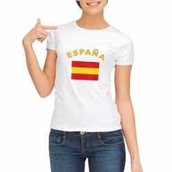 Wit dames t-shirt Spanje