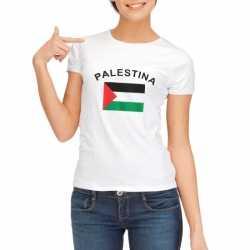 Wit dames t-shirt vlag van Palestina