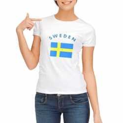 Wit dames t-shirt Zweden