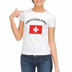 Wit dames t-shirt Zwitzerland