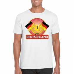 Wit duitsland supporter kampioen shirt heren