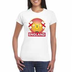Wit engeland supporter kampioen shirt dames