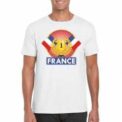 Wit frankrijk supporter kampioen shirt heren