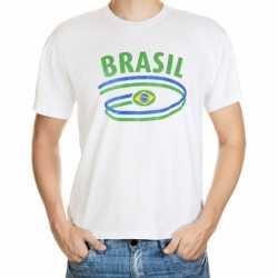 Wit heren t-shirt Brazilie