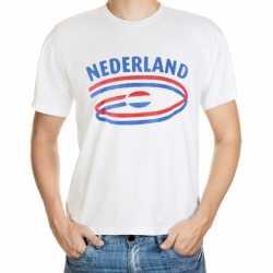 Wit heren t-shirt Nederland