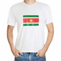 Wit heren t-shirt Suriname