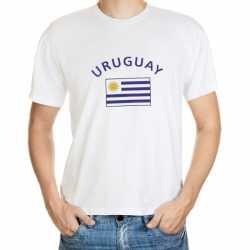 Wit heren t-shirt Uruguay
