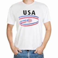 Wit heren t-shirt USA