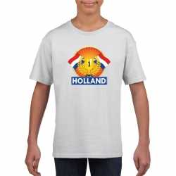 Wit holland supporter kampioen shirt kinderen