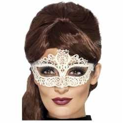 Wit kanten oogmasker dames