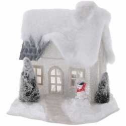 Wit kerstdorp huisje 20 type 2 led verlichting