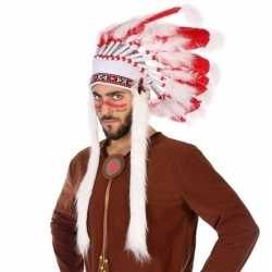 Wit/rode luxe indianen tooi heren
