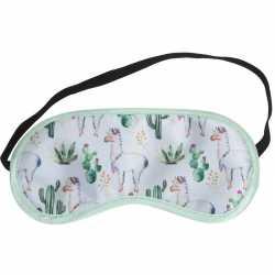Wit slaapmasker/oogmasker alpaca/lama
