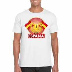 Wit spanje supporter kampioen shirt heren