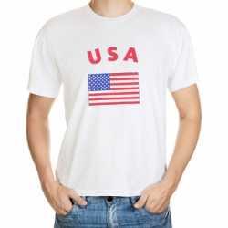 Wit t-shirt Amerika volwassenen