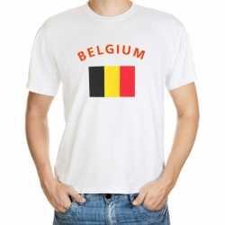 Wit t-shirt Belgie volwassenen