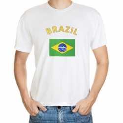 Wit t-shirt Brazilie volwassenen
