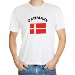 Wit t-shirt Denemarken volwassenen