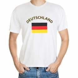 Wit t-shirt Duitsland volwassenen