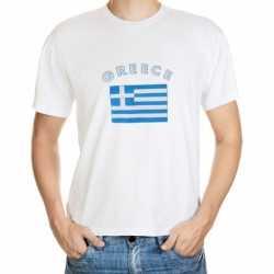 Wit t-shirt Griekenland volwassenen