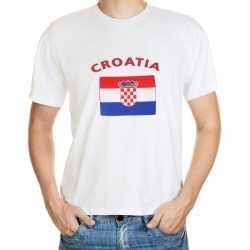 Wit t-shirt Kroatie volwassenen